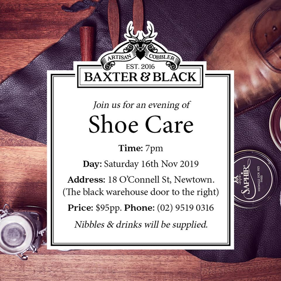 An Evening of Shoe Care with Baxter & Black